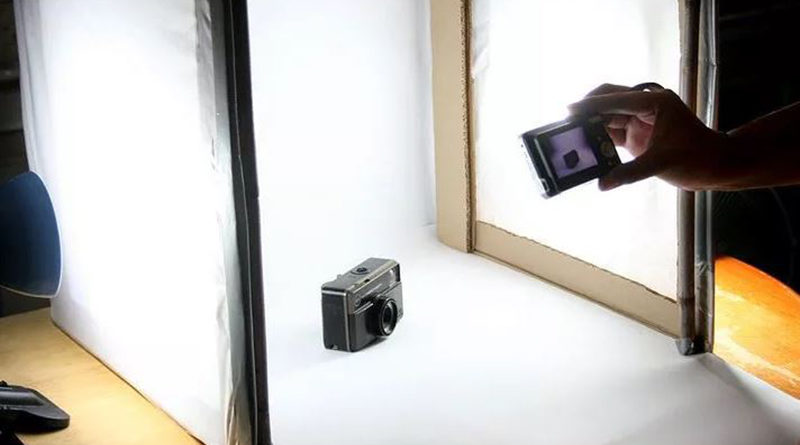 making your own diy photography light box inittime. Black Bedroom Furniture Sets. Home Design Ideas